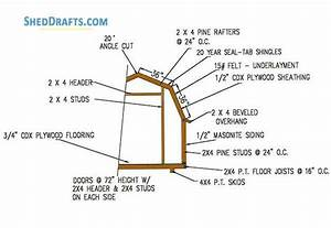 8 U00d78 Gambrel Roof Shed Plans  U0026 Blueprints For Crafting A