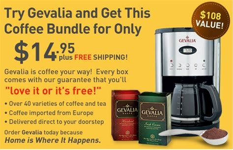 Gevalia Coffee Offers   $3 and Up