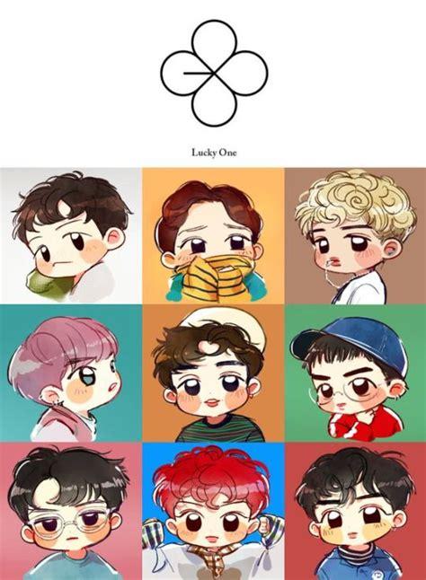 exo fan arts lucky one kpop exo chibi fanart chen suho lay xiumin sehun d o baekhyun