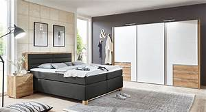 Komplett Schlafzimmer Mit Boxspringbett : schlafzimmer mit boxspringbett und schiebet renschrank raca ~ Indierocktalk.com Haus und Dekorationen