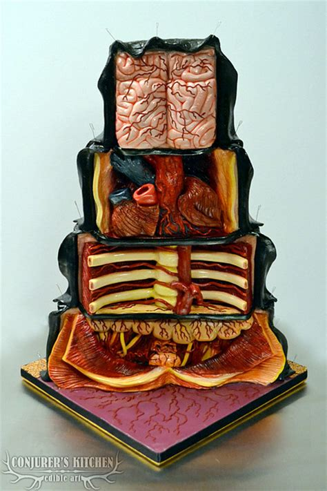 dissected cake