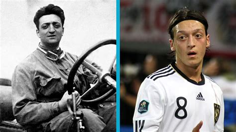 One's an arsenal playmaker, the other one of the most famous names in motorsport. ¿Son Özil y Enzo Ferrari la misma persona?