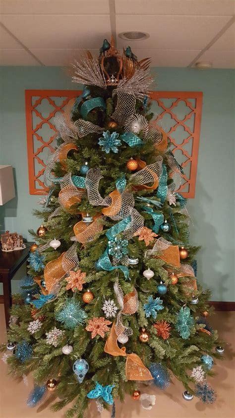 orange christmas tree ideas  pinterest