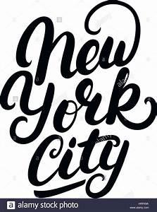 New York Schriftzug : new york city hand geschriebenen schriftzug moderne b rste kalligraphie t shirt druck ~ Frokenaadalensverden.com Haus und Dekorationen