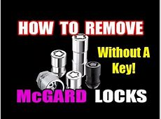 HOW TO REMOVE WHEEL LOCKS WITHOUT KEY YouTube