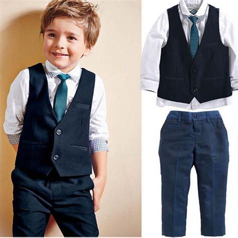 blue boys blazer suit children vesttieblousepants