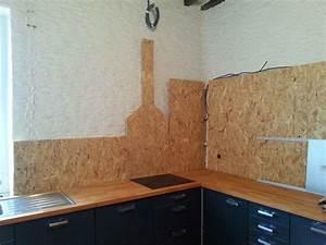 Mur En Osb : notre maison cuisine partie 6 le faux mur et tout et tout ~ Melissatoandfro.com Idées de Décoration