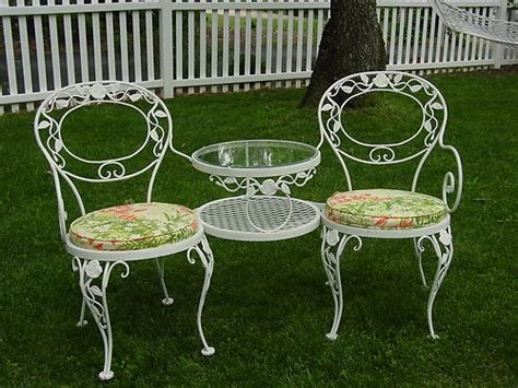 vintage meadowcraft wrought iron patio furniture 1000 images about vintage patio on furniture