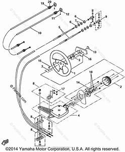 Yamaha Boat 2003 Oem Parts Diagram For Steering Cables