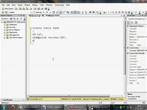 sql server show tables sql server 2008 simple create table query youtube