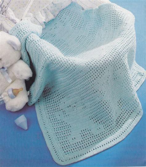 modele rideau chambre crochet couverture berceau quot oursons bleus quot tutoriel