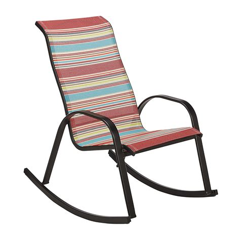 essential garden bartlett multicolored stack rocking chair