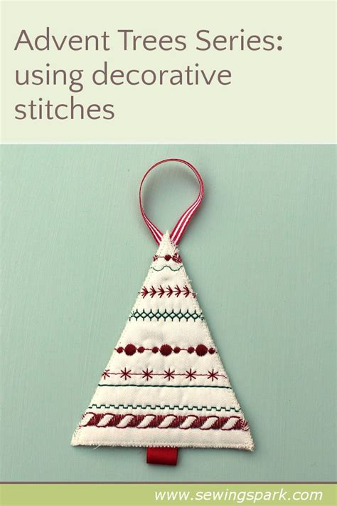 advent trees  decorative stitches sewing spark