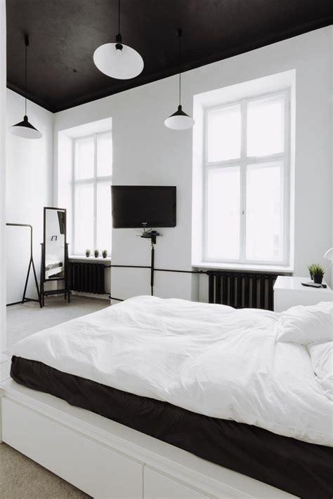 chambre adulte noir chambre blanche en 65 idées de meubles et décoration