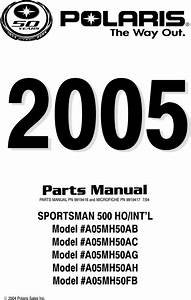 Polaris Sportsman 500 Part List  Parts Manual  Parts