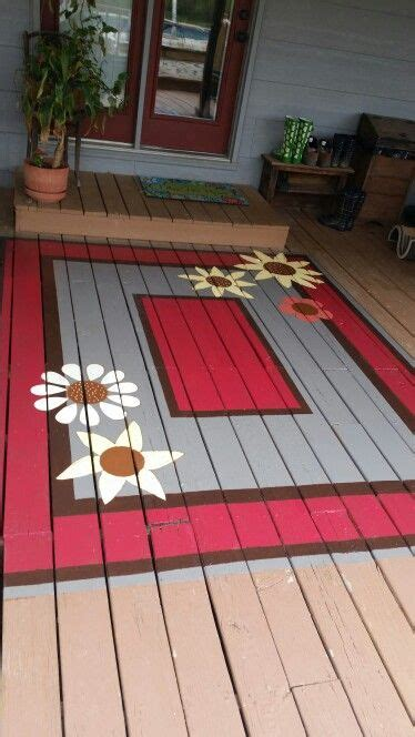 painted deck rug cheaper  replacing boards