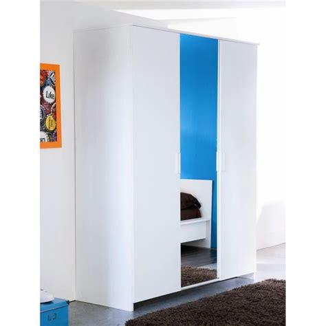 porte de chambre pas cher esther armoire 3 portes blanche achat vente armoire de