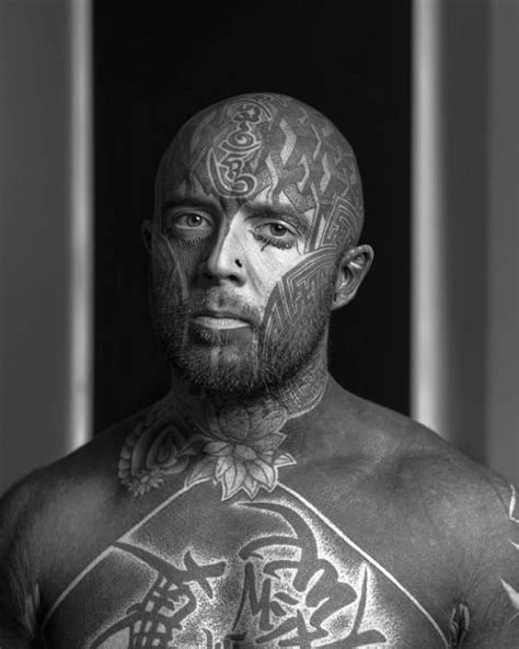 Top 90 Most Amazing Men's Face Tattoos [2020 Inspiration