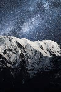 Beautiful Mountain Scenery Night
