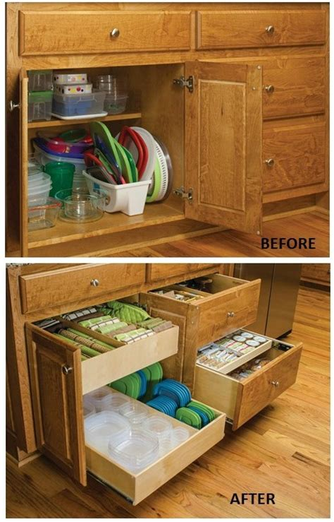 kitchen cabinet storage containers remodelaholic convenient and space saving cabinet 5810