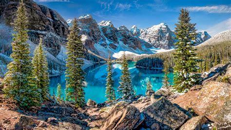 moraine lake   valley   ten peaks  ultrahd