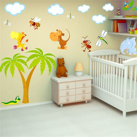 stickers animaux chambre b饕 davaus rideau chambre bebe animaux avec des idées intéressantes pour la conception de la chambre