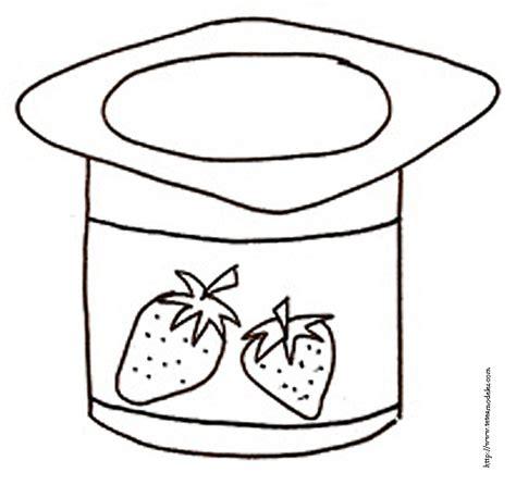 coloriage d un pot de yaourt t 234 te 224 modeler