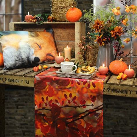 Herbst Dekoration Kaufen by Tischl 228 Ufer Und Kissen Herbst Digitaldruck Deko