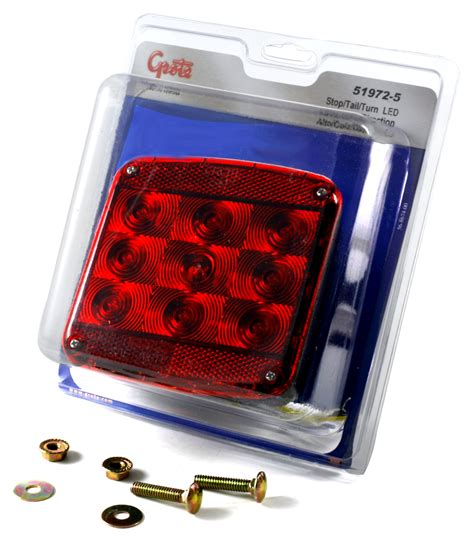 grote submersible led trailer lights 51972 5 led submersible trailer lighting kit stop tail