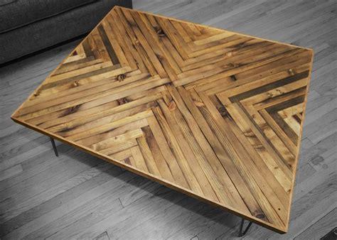 herringbone coffee table top coffee table wood