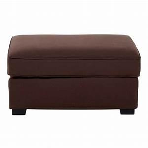 Pouf De Canapé : pouf de canap modulable en coton marron chocolat milano ~ Teatrodelosmanantiales.com Idées de Décoration