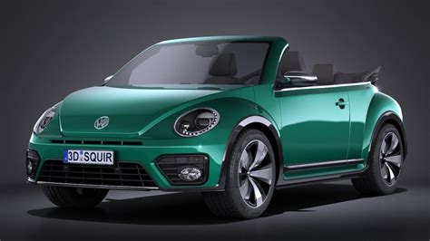 green volkswagen beetle 2017 volkswagen beetle cabrio 2017 3d model max obj 3ds fbx