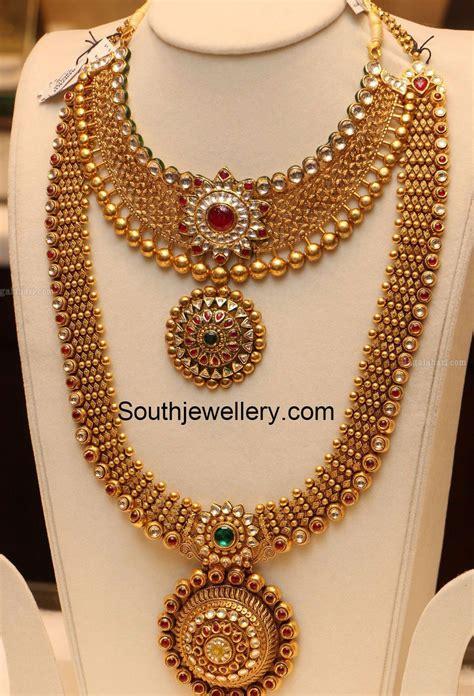 antique gold necklace  haram set photo gold necklace