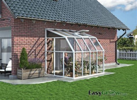 Rion Lean-to 6x8 Sun Room 2 Clear Wall Greenhouse Kit