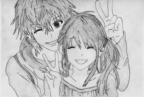 anime couple draw anime couple drawing by 1dragonwarrior1 on deviantart