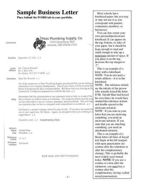 business letter format  attachments pictures  pin