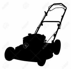 Lawn Mower Silhouette Clipart