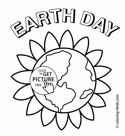 Earth Coloring Pages Flower Printable Drawing Mother