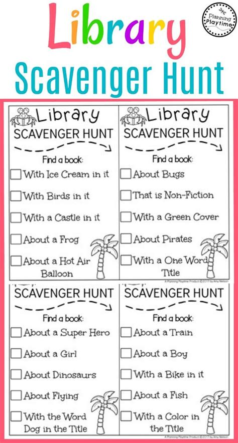 library scavenger hunts curious wander