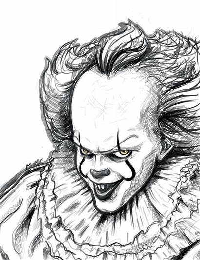 Pennywise Sketch Drawings Scary Pencil Halloween Tattoo