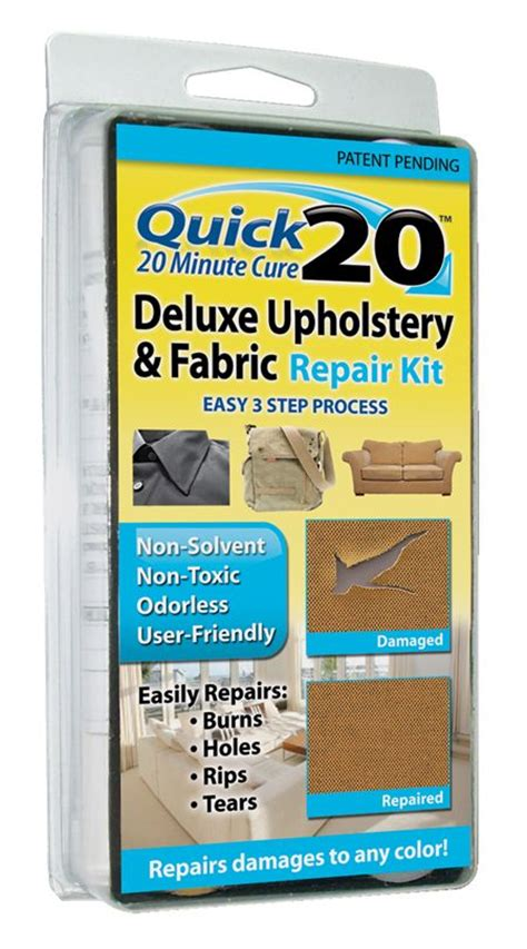 Vinyl Upholstery Repair by 20 Deluxe Upholstery And Fabric Repair Kit Fabric