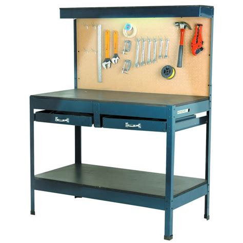 garage workbench  lighting  outlets harbor freight