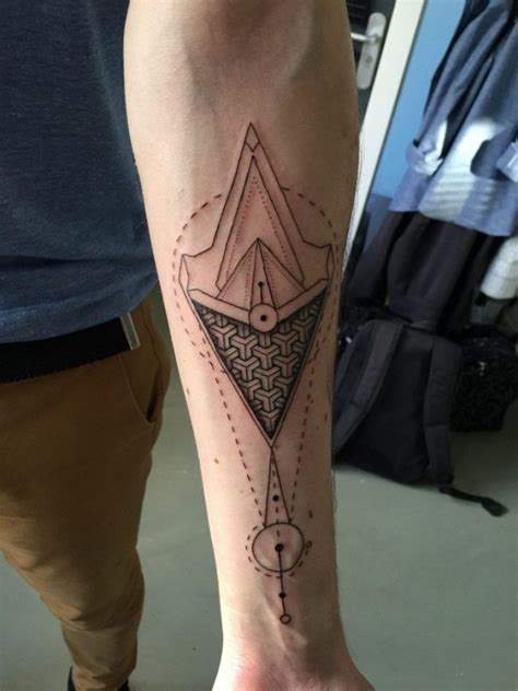 geometric forearm tattoo designs ideas  meaning