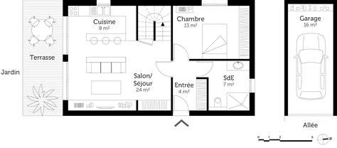 plant de cuisine plan de maison 1 etage 3 chambres