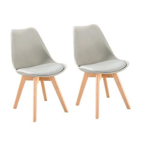 chaise de salle a manger grise chaise blanche de salle a manger 2 bjorn lot de 2