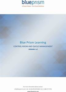 Blue Prism Learning Guide To Control Room And Queue Management