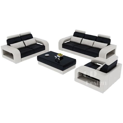 canape cuir design salon set canapés personnalisable en cuir design salerno