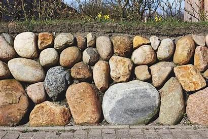 Stone Wall Freestanding Build Dry Way Diy