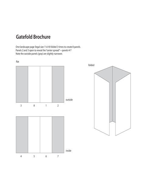 gate fold brochure template   templates