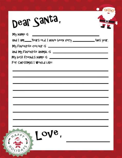 printable santa letters ideas